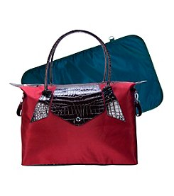 Trend Lab Burgundy/Chestnut Rendezvous Tote