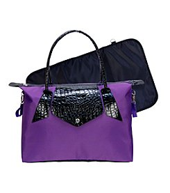 Trend Lab Royal Purple/Black Rendezvous Tote