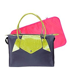 Trend Lab Grey/Lime Green Rendezvous Tote