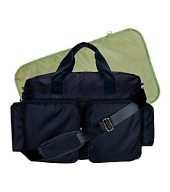 Trend Lab Black/Avocado Green Deluxe Duffle