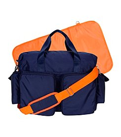 Trend Lab Navy/Orange Deluxe Duffle