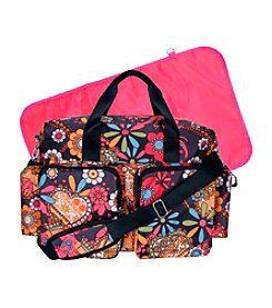 Trend Lab Bohemian Floral Deluxe Duffle