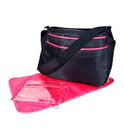 Trend Lab Black/Fuchsia Ultimate Hobo