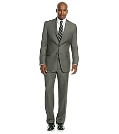 Calvin Klein Men's Charcoal Neat Suit Separates