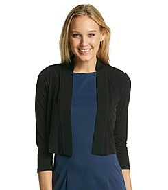 Calvin Klein Open Front Cropped Jersey Shrug