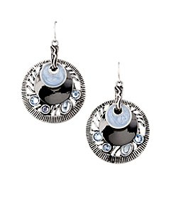 Laura Ashley® Denim Drop Earrings