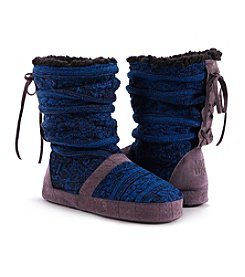 MUK LUKS® Jenna Slipper Boots - Black