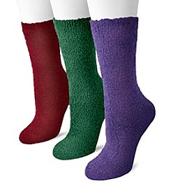 MUK LUKS® Women's 3 Pair Pack Crew Aloe Socks