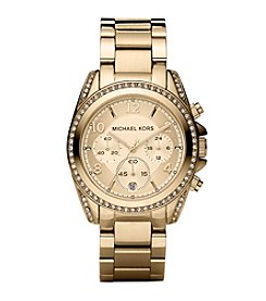 Michael Kors® Mid-Size Goldtone Stainless Steel Blair Chronograph Glitz Watch