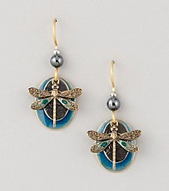 Silver Forest® Blue Dragonfly Earrings