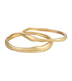 The Sak® 2 Piece Goldtone Organic Bangle Set