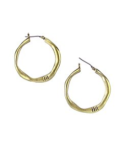 The Sak® Goldtone Small Organic Hoop Click Earrings