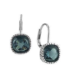 The Sak® Blue Stone Cushion Batik Earrings