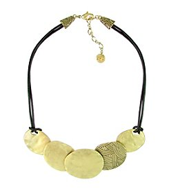 The Sak® Goldtone Front Disc Necklace