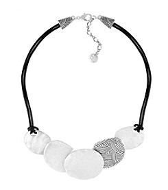 The Sak® Silvertone Front Disc Necklace