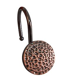 Elegant Home Fashions® Round with a Hammered Surface Shower Hooks
