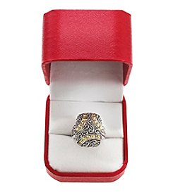 Effy® Balissima Sterling and 18K Yellow Gold Ring