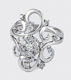 Effy® White Gold .70 ct. t.w. Diamond Ring