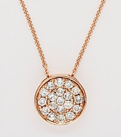 Effy® 14K Rose Gold Pave .28 ct. t.w. Diamond 18