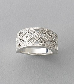 Beaded Accent Filigree Ring in Sterling Silver