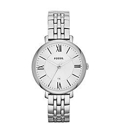 Fossil® Women's Jacqueline Watch in Silvertone Link Bracelet