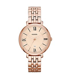Fossil® Women's Jacqueline Watch in Rose Goldtone Link Bracelet