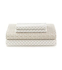 CASA by Victor Alfaro Tan Print Spa Sheet Set