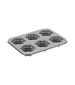 Cake Boss® Specialty Nonstick Bakeware 6-Cup Flower Cakelette Pan