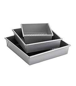 Cake Boss® Professional Nonstick Bakeware 3-pc. Square Cake Pan Set