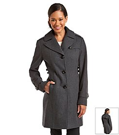 Kenneth Cole® Single Breasted Notch Collar Jacket With Side Tabs