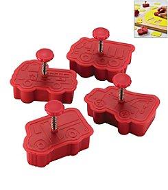 Cake Boss® Decorating Tools 4-pc. Red Work Truck Fondant Press Set