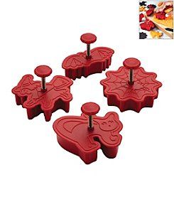 Cake Boss® Decorating Tools 4-pc. Red Halloween Fondant Press Set