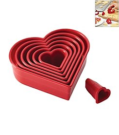 Cake Boss® Decorating Tools 7-pc. Red Nylon Heart Fondant and Cookie Cutter Set