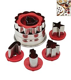 Cake Boss® Decorating Tools Red Holiday Linzer Cookie Cutter Set