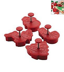 Cake Boss® Decorating Tools 4-pc. Red Christmas Fondant Press Set