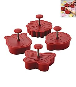Cake Boss® Decorating Tools 4-pc. Red Springtime Fondant Press Set