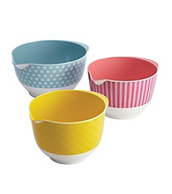 Cake Boss® Countertop Accessories 3-pc. Melamine Mixing Bowl Set
