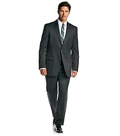 Calvin Klein Men's Charcoal Slim Fit 2-Piece Suit