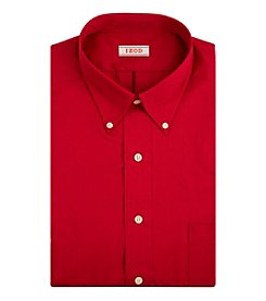 Izod® Men's Big & Tall Crimson Long Sleeve Twill Dress Shirt