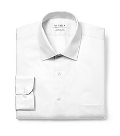 Van Heusen® Men's White Big & Tall Long Sleeve Wrinkle-Free Lux Sateen Dress Shirt