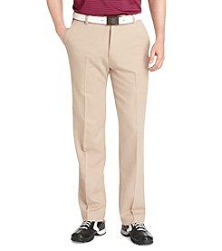 Izod® Men's Khaki Microsanded Flat Front Pant