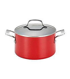 Circulon® Genesis 4.5-qt. Red Aluminum Nonstick Covered Dutch Oven