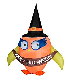 Halloween Airblown® Inflatable Falloween Owl with Banner