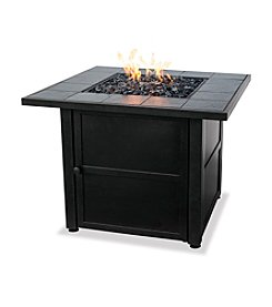 UniFlame® LP Gas Outdoor Firebowl with Slate Mantel