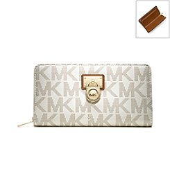 MICHAEL Michael Kors® Hamilton Signature Large Zip Around Wallet