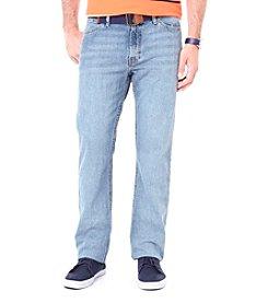 Nautica® Men's Rocky Blue Crosshatch Straight Fit Denim