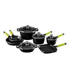 Fundix by Castey 11-pc. Cookware Set with Kiwi Handles