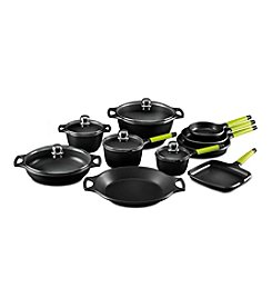 Fundix by Castey 15-pc. Cookware Set with Kiwi Handles