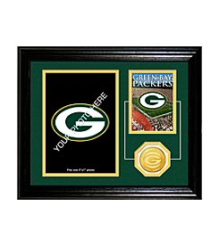 Green Bay Packers Framed Memories Desktop Photo Mint by Highland Mint