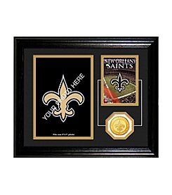 New Orleans Saints Framed Memories Desktop Photo Mint by Highland Mint